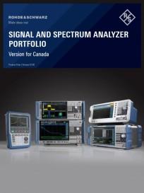 Signal and Spectrum Analyzer Portfolio - Version for Canada