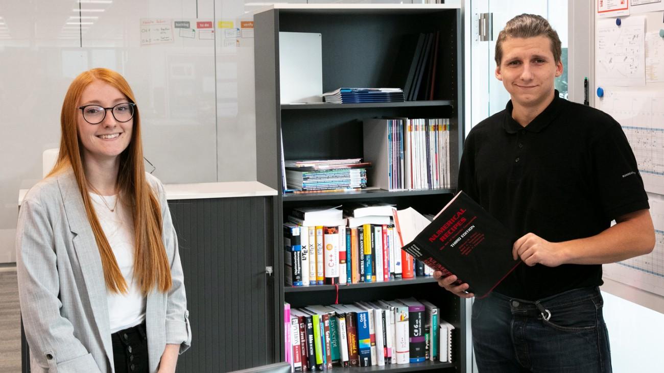 Eva Bergbauer und Michael Klinger absolvierten erfolgreich ihr erstes Semester im Frühstudium.