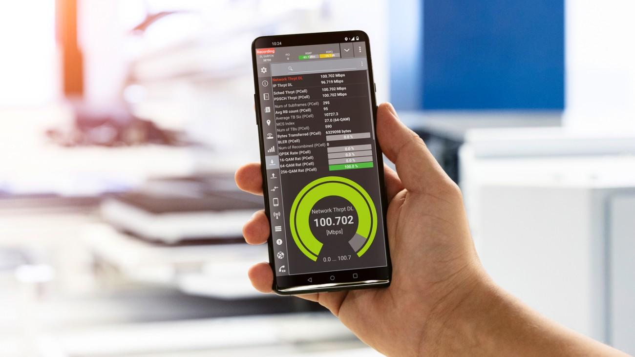 R&S-Messtechnik wie das QualiPoc Android dient zur Optimierung des 5G-Campusnetzes.