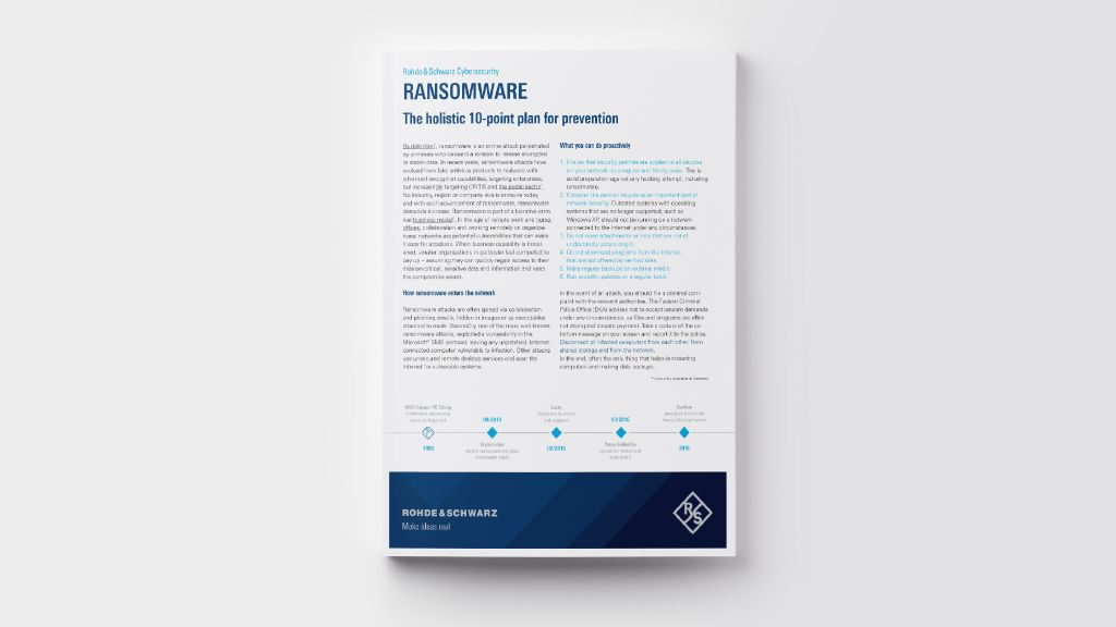 RANSOMWARE - The holistic 10-point plan for prevention
