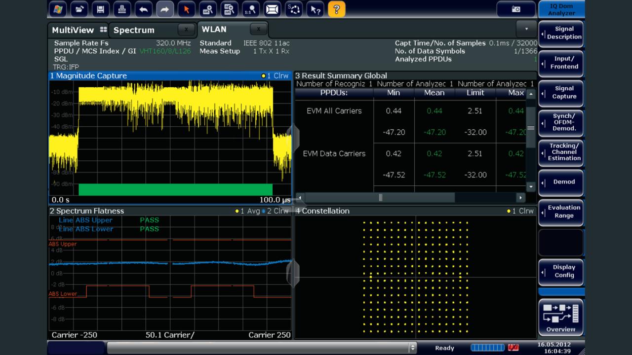 FSW-K91ac option: convenient IEEE 802.11ac signal analysis.