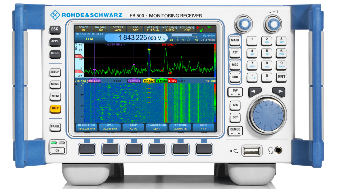 20 MHz demodulation bandwidth for level measurement - EB500