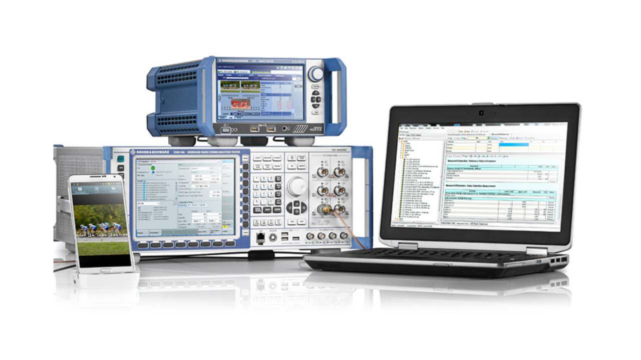 R&S®CMWrun – conducted (HDMI™/MHL interface) video analysis test solution based on R&S®VTE.
