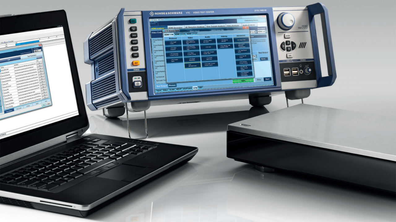 R&S®AVBrun MHL and HDMI CTS test solution.