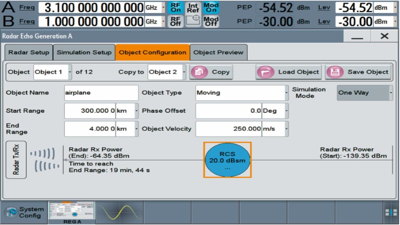 Echo configuration using R&S®SMW-K78