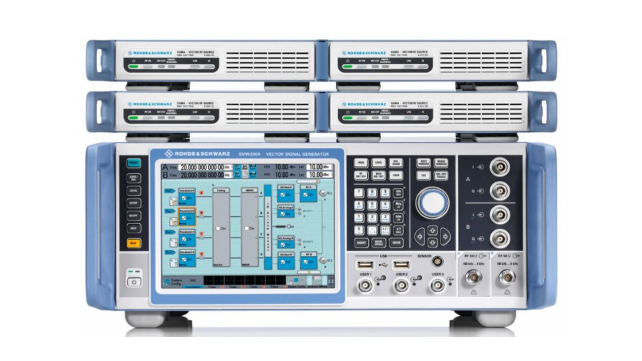 Kompakte, skalierbare Testlösung mit phasenkohärenten HF-Ausgängen.