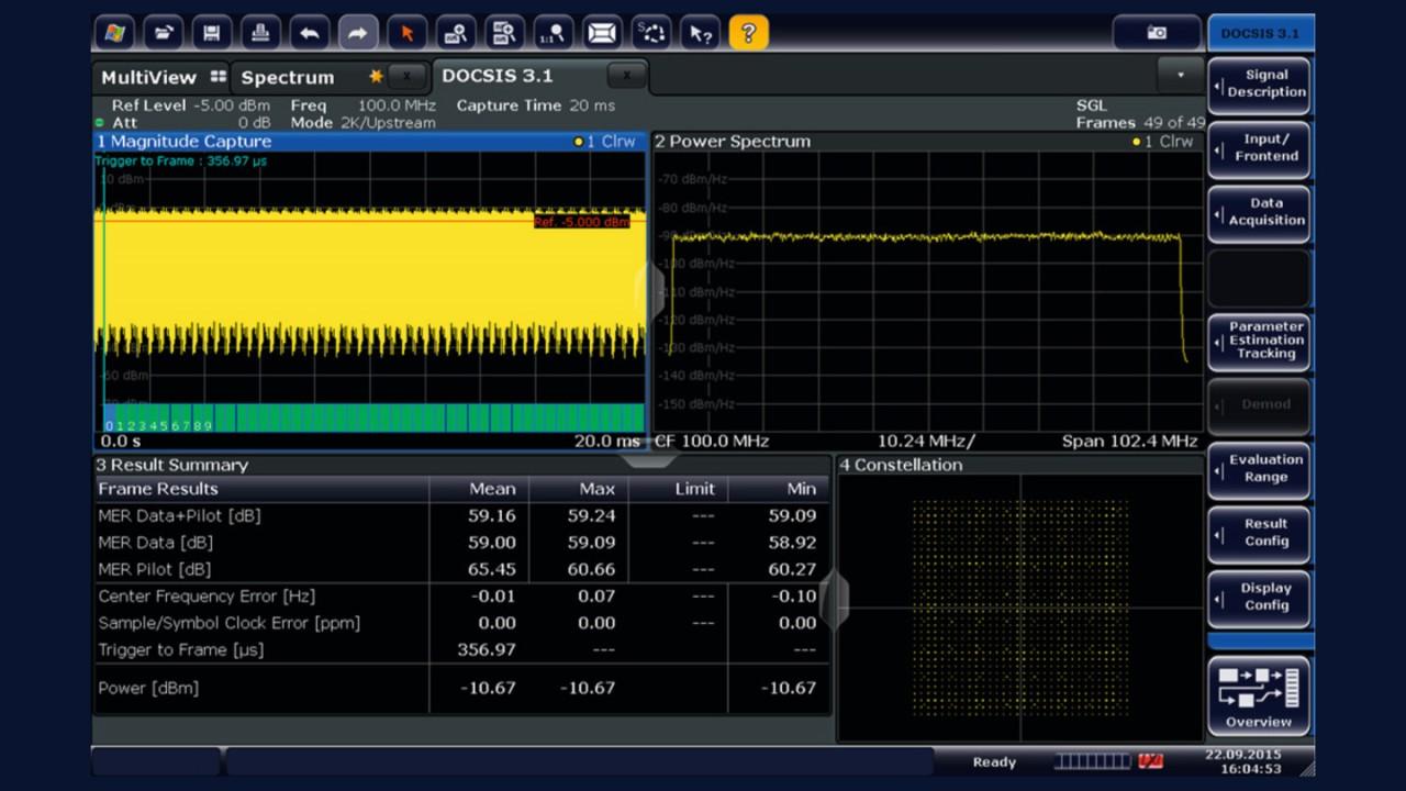 FSW-K193: DOCSIS 3.1 upstream modulation analysis