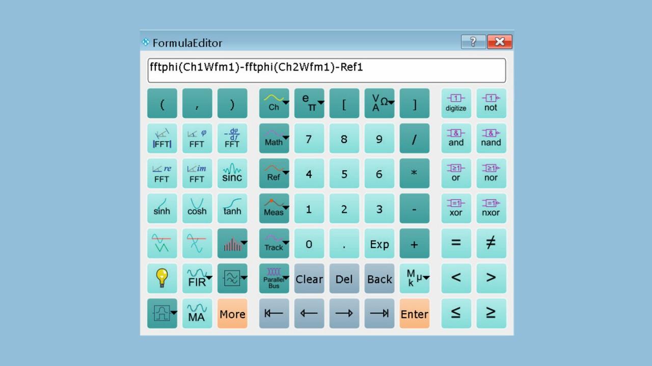 Formeleditor, um den Phasenversatz ohne Verfälschung zu berechnen