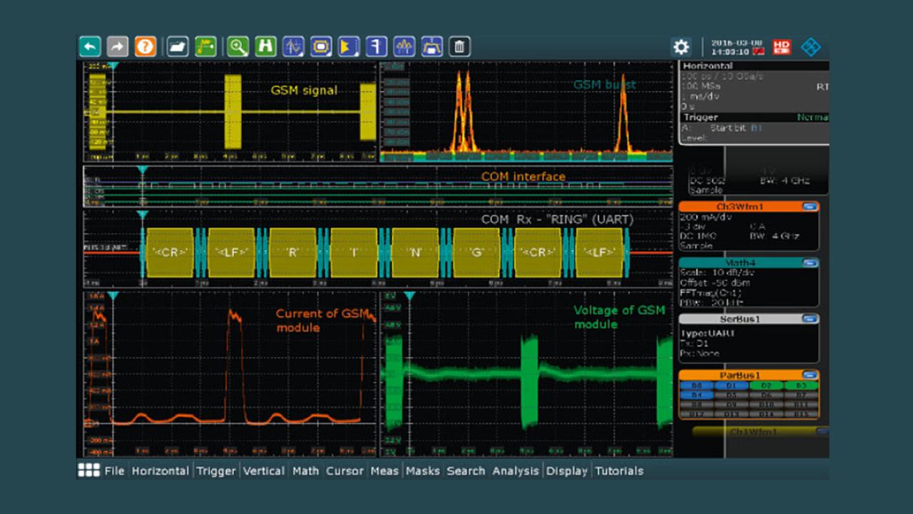 無線モジュールのデータ捕捉、処理、通信のタイミング解析。