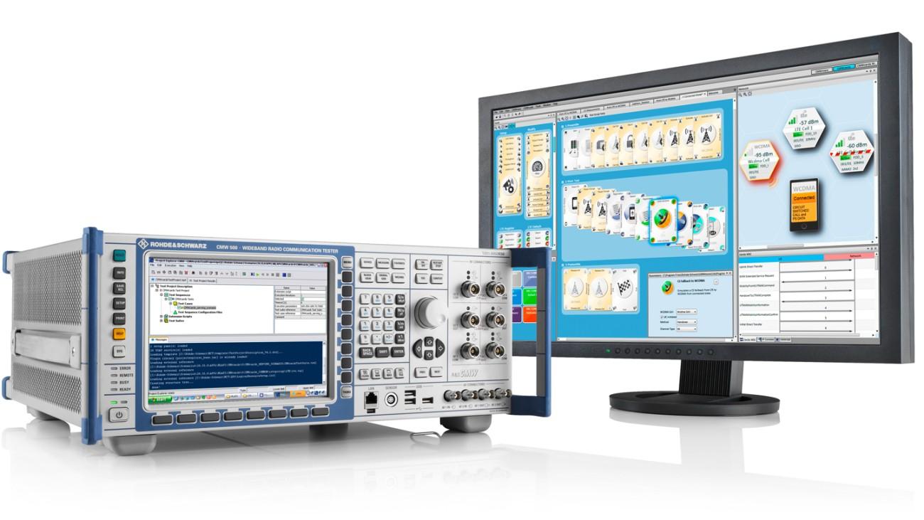 CMW500 Protocol Tester with CMW-CU and CMWcards tool