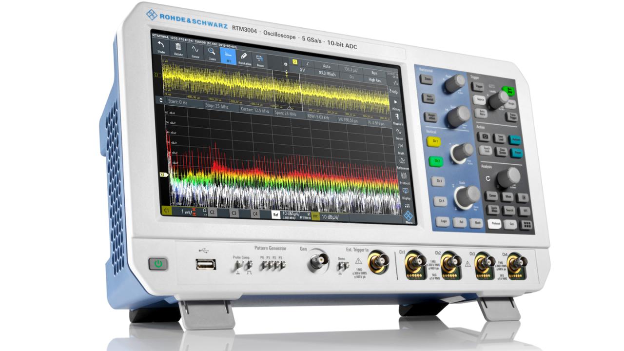 Kürzere Entwicklungszeiten für Leistungselektronik durch den Einsatz von Oszilloskopen zur EMV-Fehlersuche – RTM3004