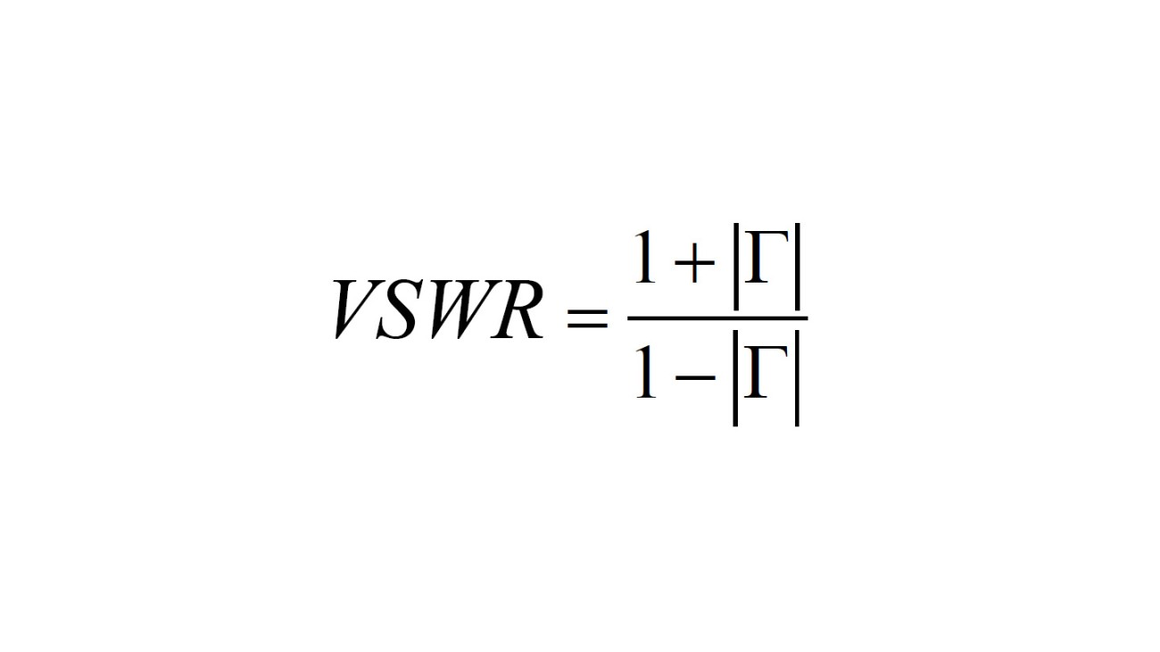 Voltage standing wave ratio (VSWR)