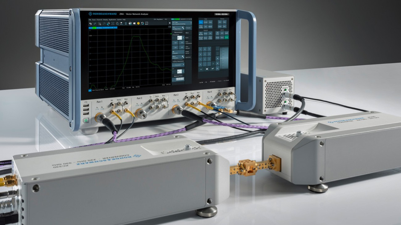 Compact solution for network analysis in the mmWave range
