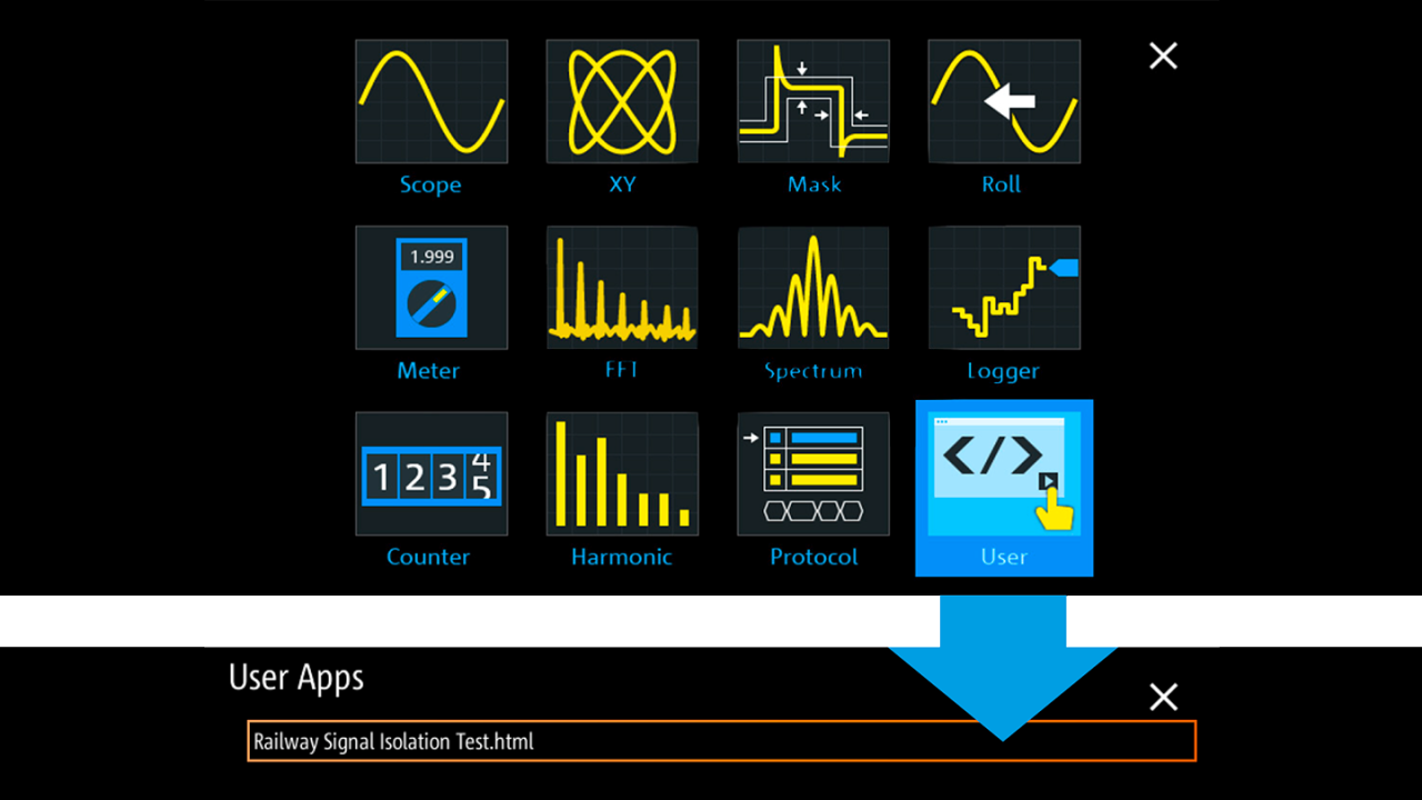 The Mode button directly accesses all RTH analysis functions.