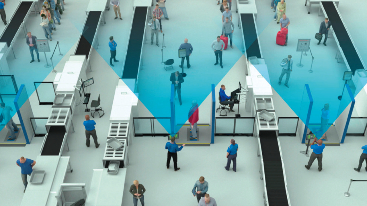 The open design of the R&S®QPS provides an unobstructed view of security screening operations