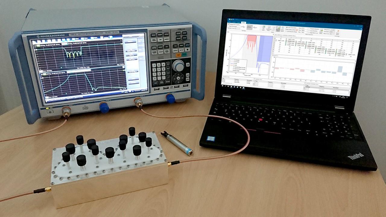 Messaufbau für den Filterabgleich mit CST Filter Designer 3D und dem R&S®ZNB.