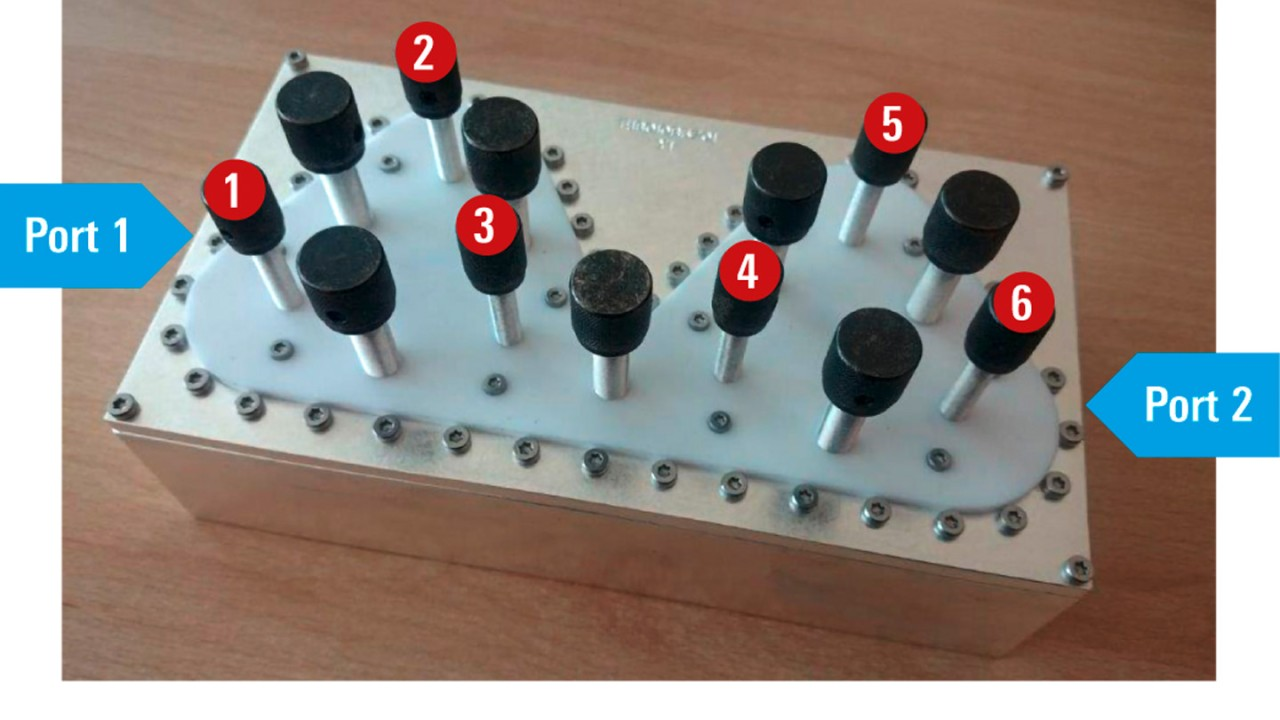 Filter with numbered resonators.