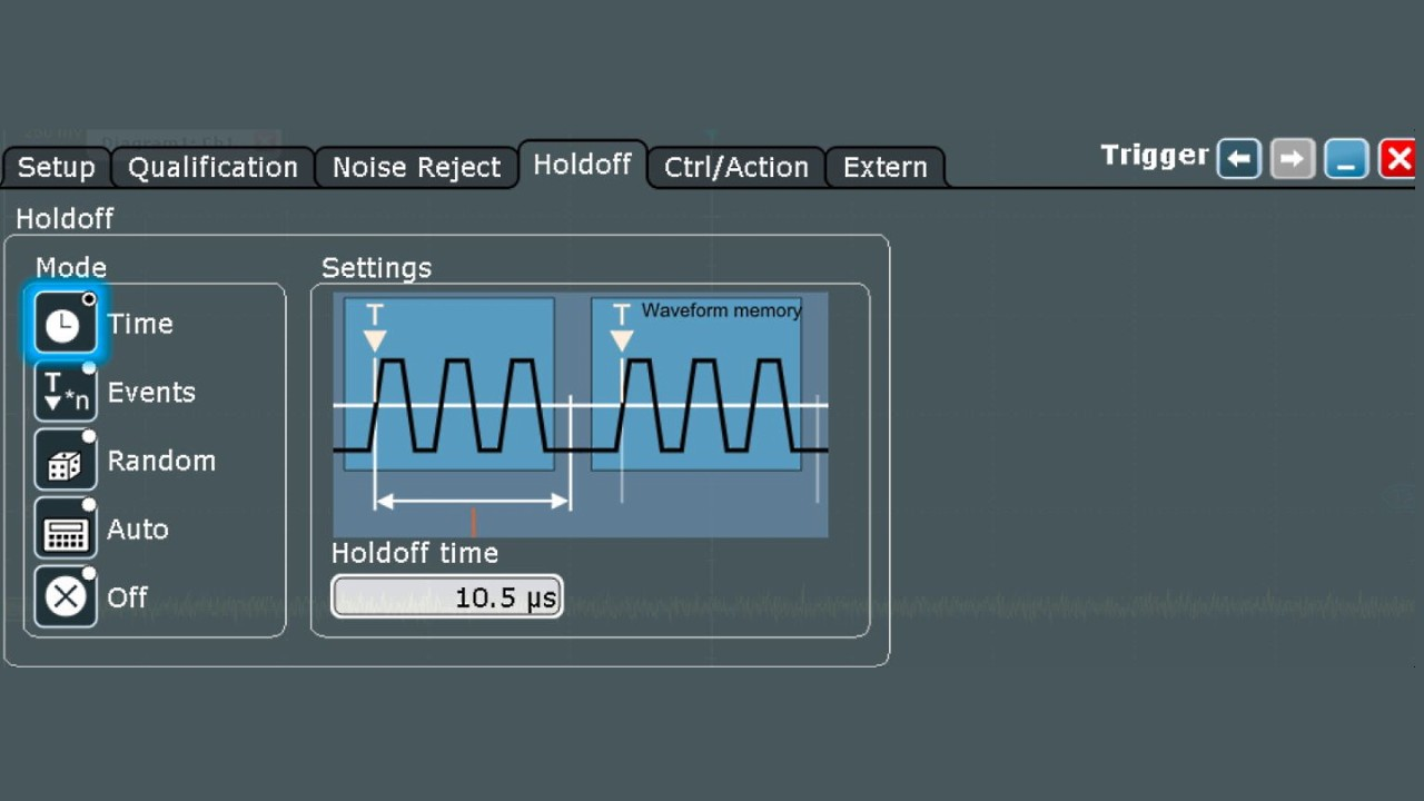 Add a holdoff to the edge trigger that is slightly longer than the victim radar pulse.
