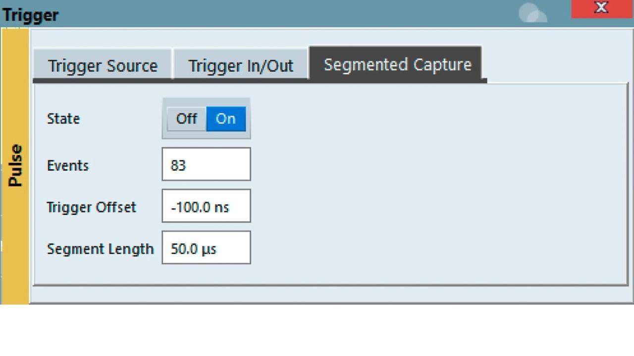 Trigger - Segmented Capture