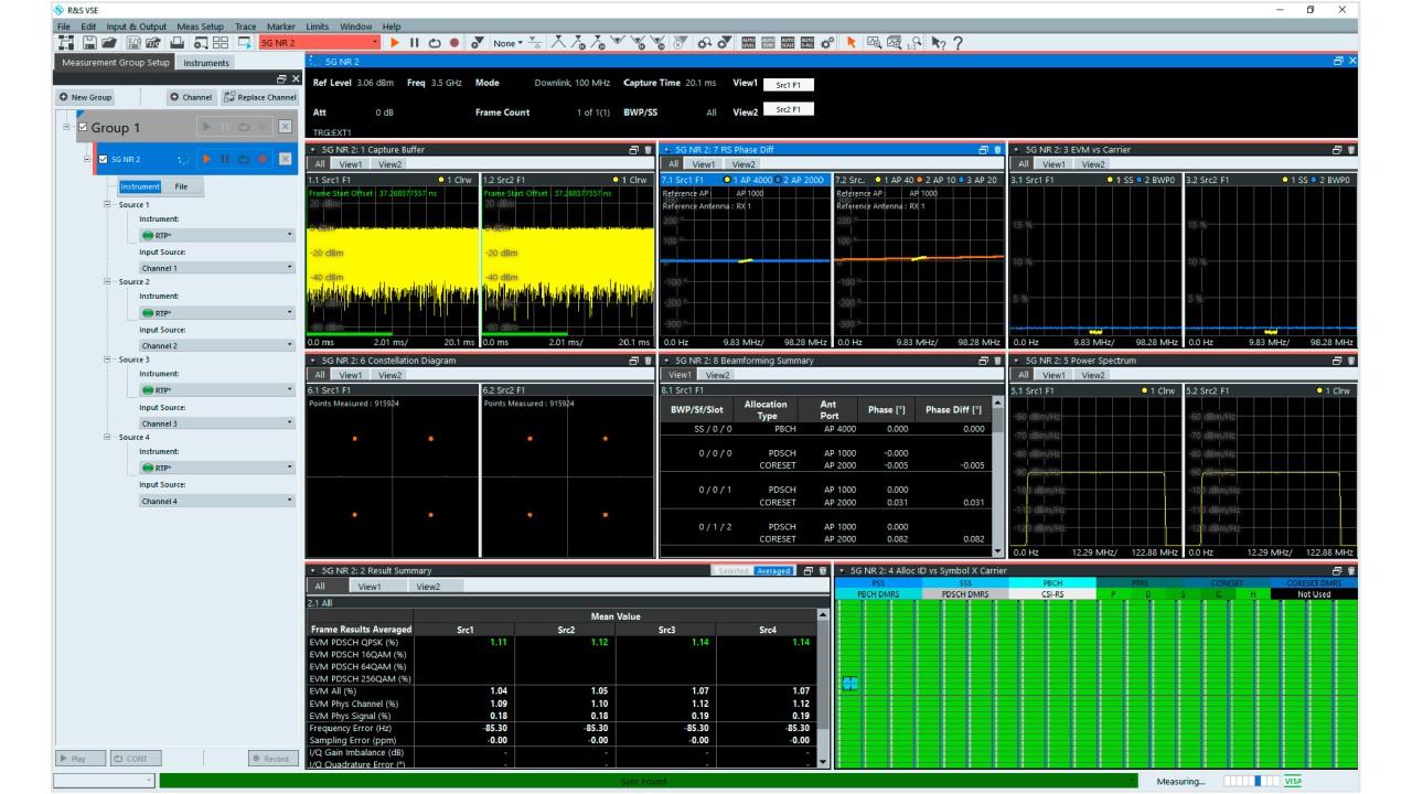 VSE-K146 mehrkanalige MIMO-Messungen