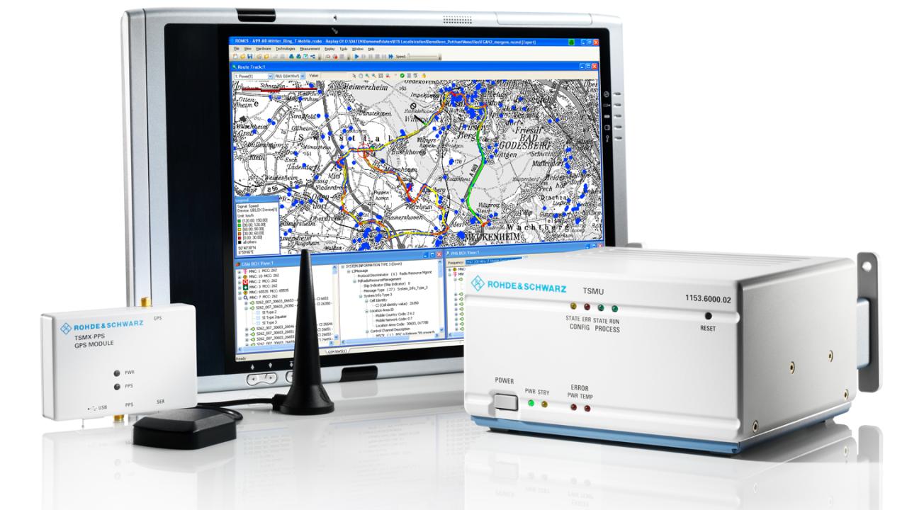 Компоненты решения для локализации базовых станций от компании Rohde & Schwarz
