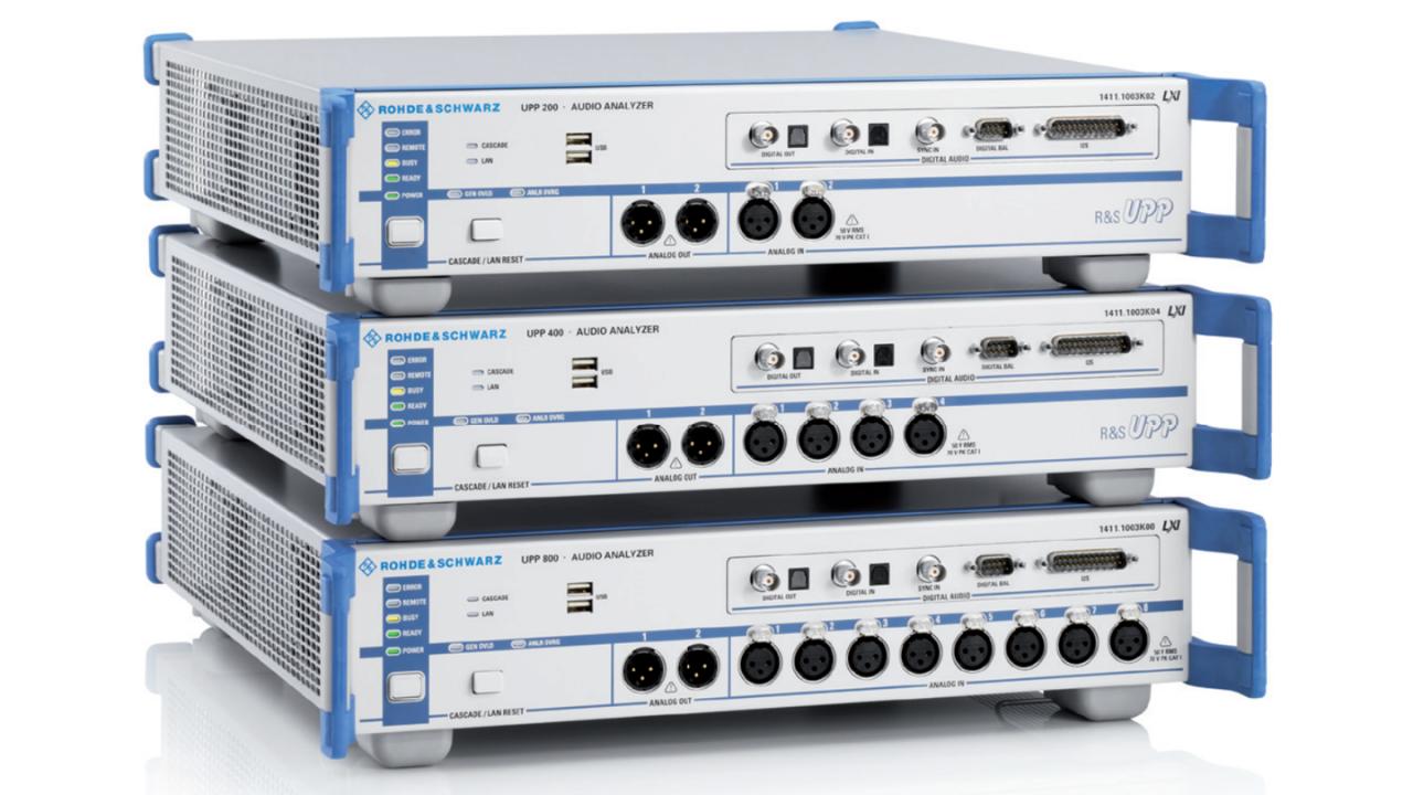 The UPP audio analyzer family.