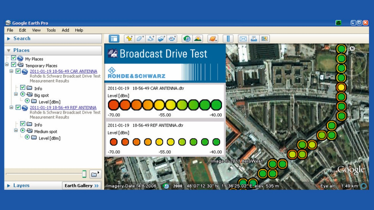 BCDRIVE broadcast drive test software