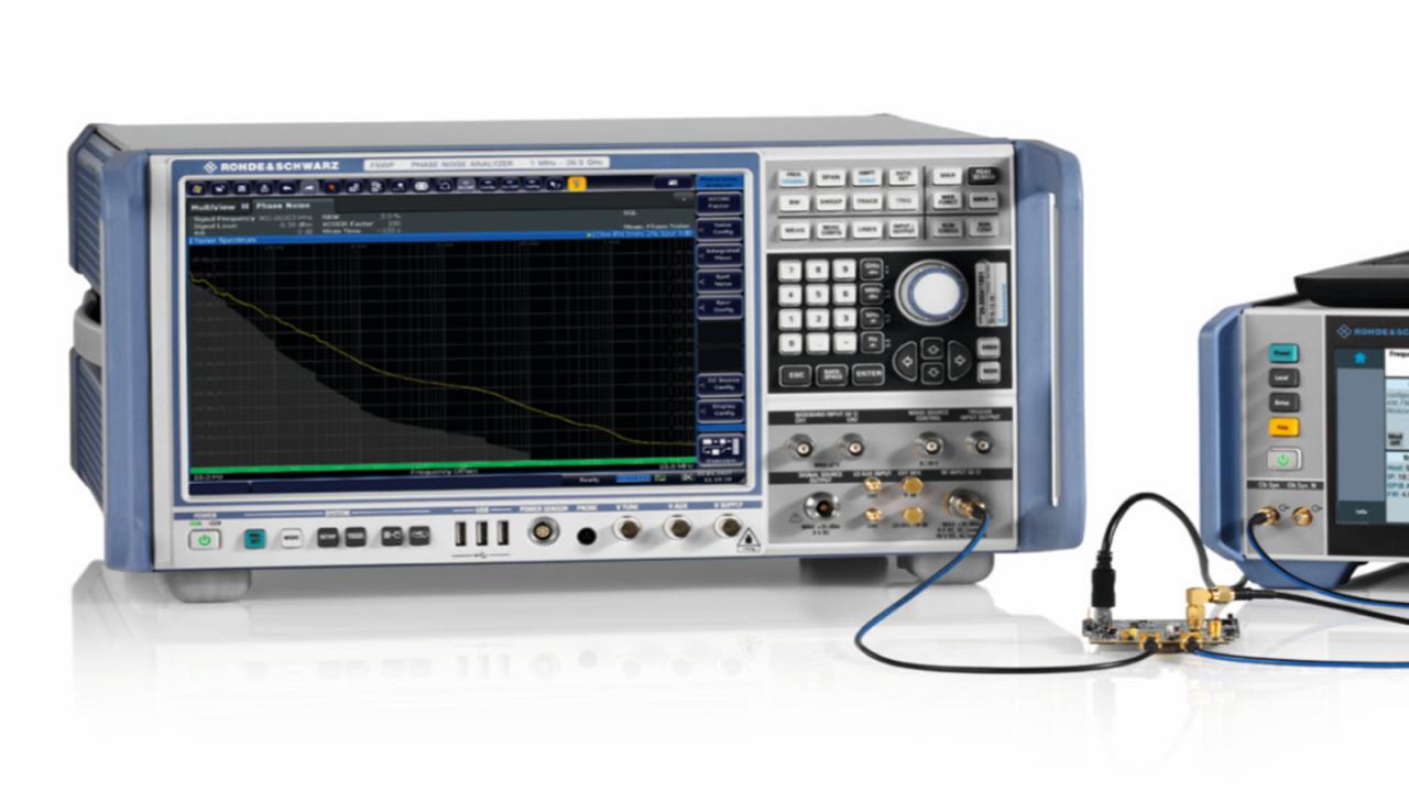 Messung von Phasenrauschen und Jitter einer Taktquelle mit dem R&S®FSWP.