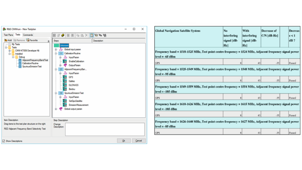 CMWrun GUI and reporting