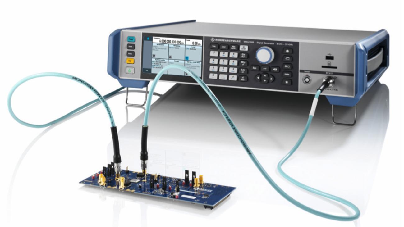SMA100B produit des signaux d'horloge extrêmement purs.