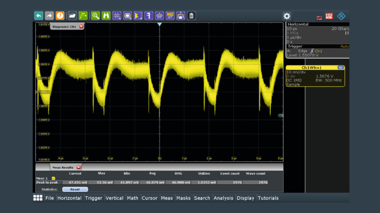 Gated FFTs let user zero in on disturbances in the time domain, and see associated tones.