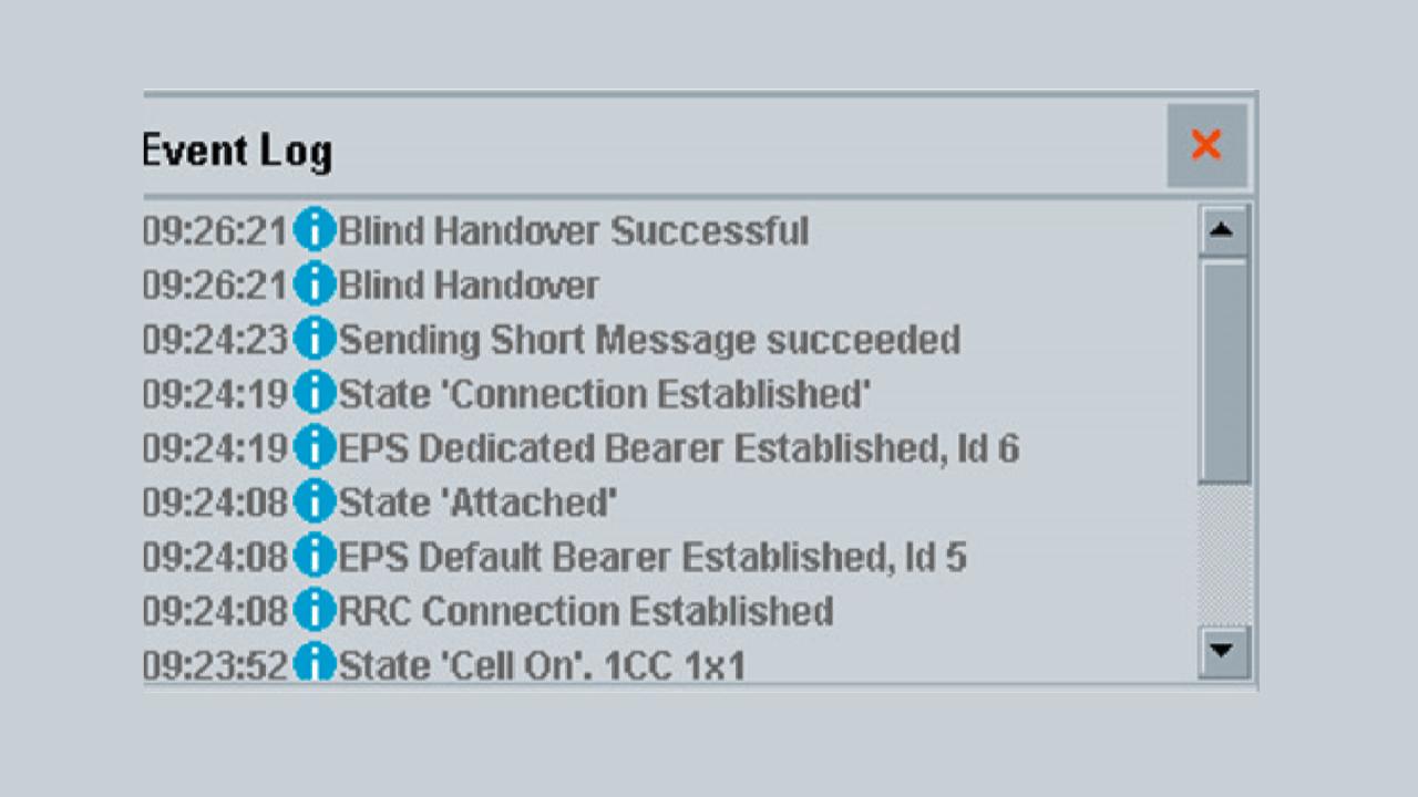 Tracing steps for blind handover.