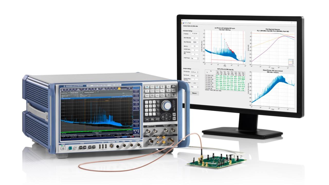 Jitter measurement on a PCIe Gen4 SSC clock