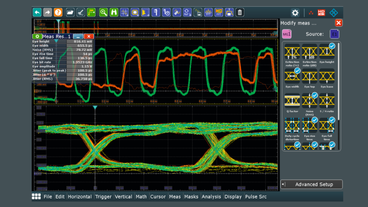 DDR3-Augendiagramm