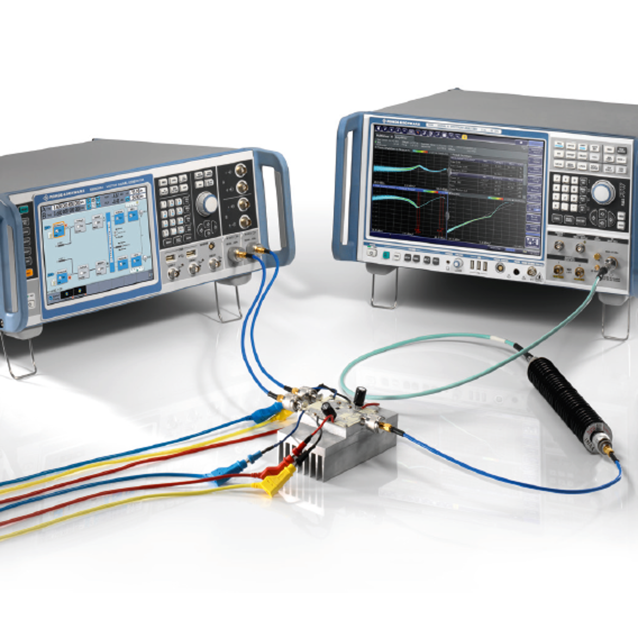 R&S®SMW200A vector signal generator and the R&S®FSW signal and spectrum analyzer