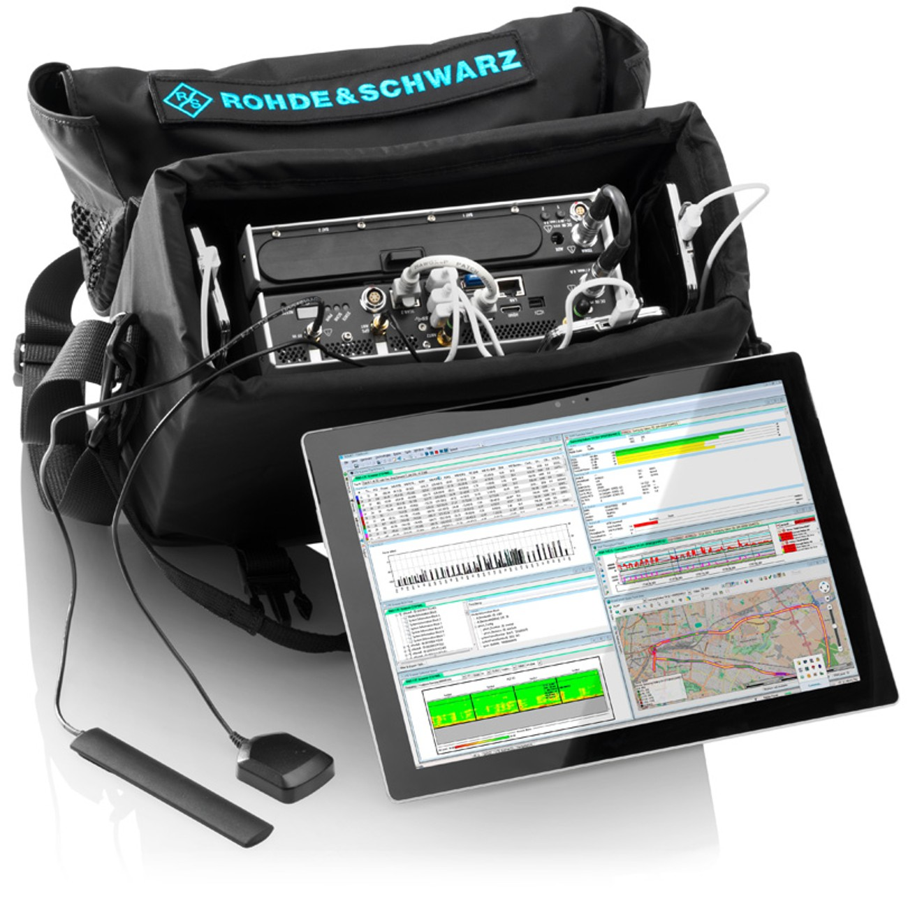 The portable spectrum cearance solution: the R&S®TSMA autonomous mobile network scanner and the R&S®ROMES4 drive/walk test software