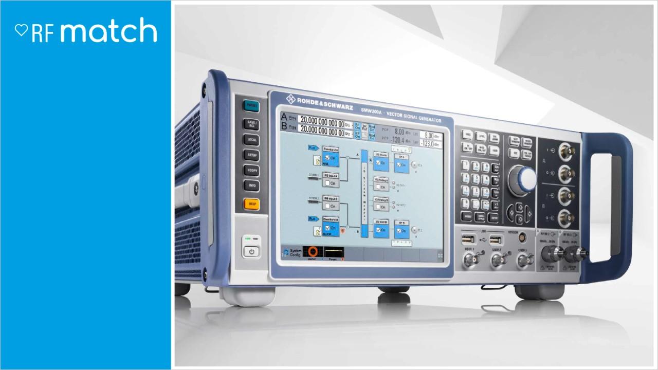 Rohde-Schwarz-Signal-Generator-RFMatch-SMW200A