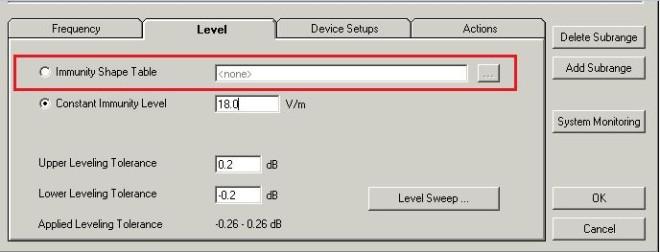emc s уровень помехоустойчивости как функция от частоты faq  Перейдите на вкладку level Уровень Здесь можно определить конечный контрольный уровень в виде либо постоянного значения для всего поддиапазона