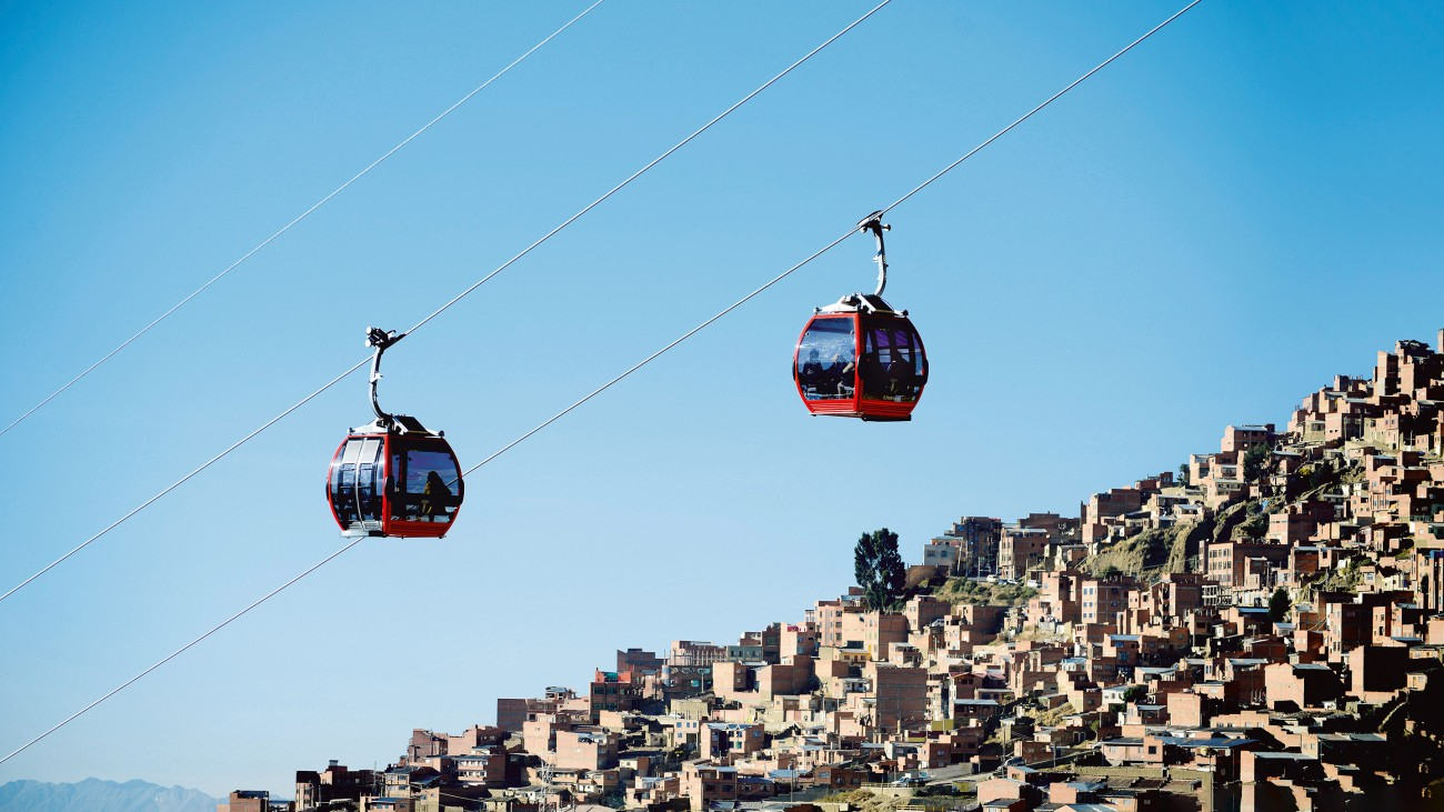 Future mobility: the cable cars of La Paz
