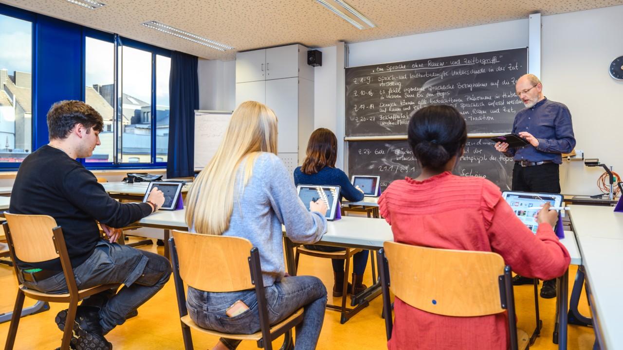 La Viktoriaschule ha aggiornato l'architettura di rete nel 2019 con una rete Wi-Fi LANCOM gestita su cloud.