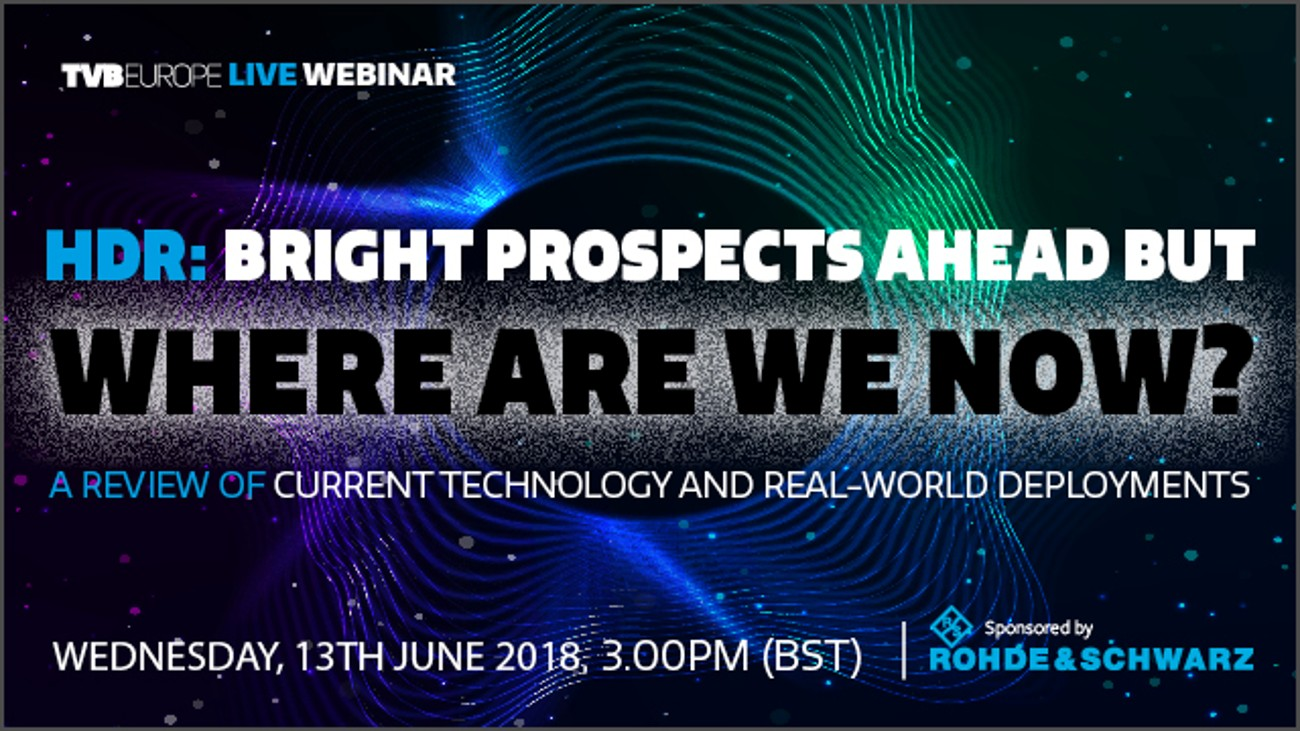 Free webinar: HDR: Bright prospects ahead, but where are we now?