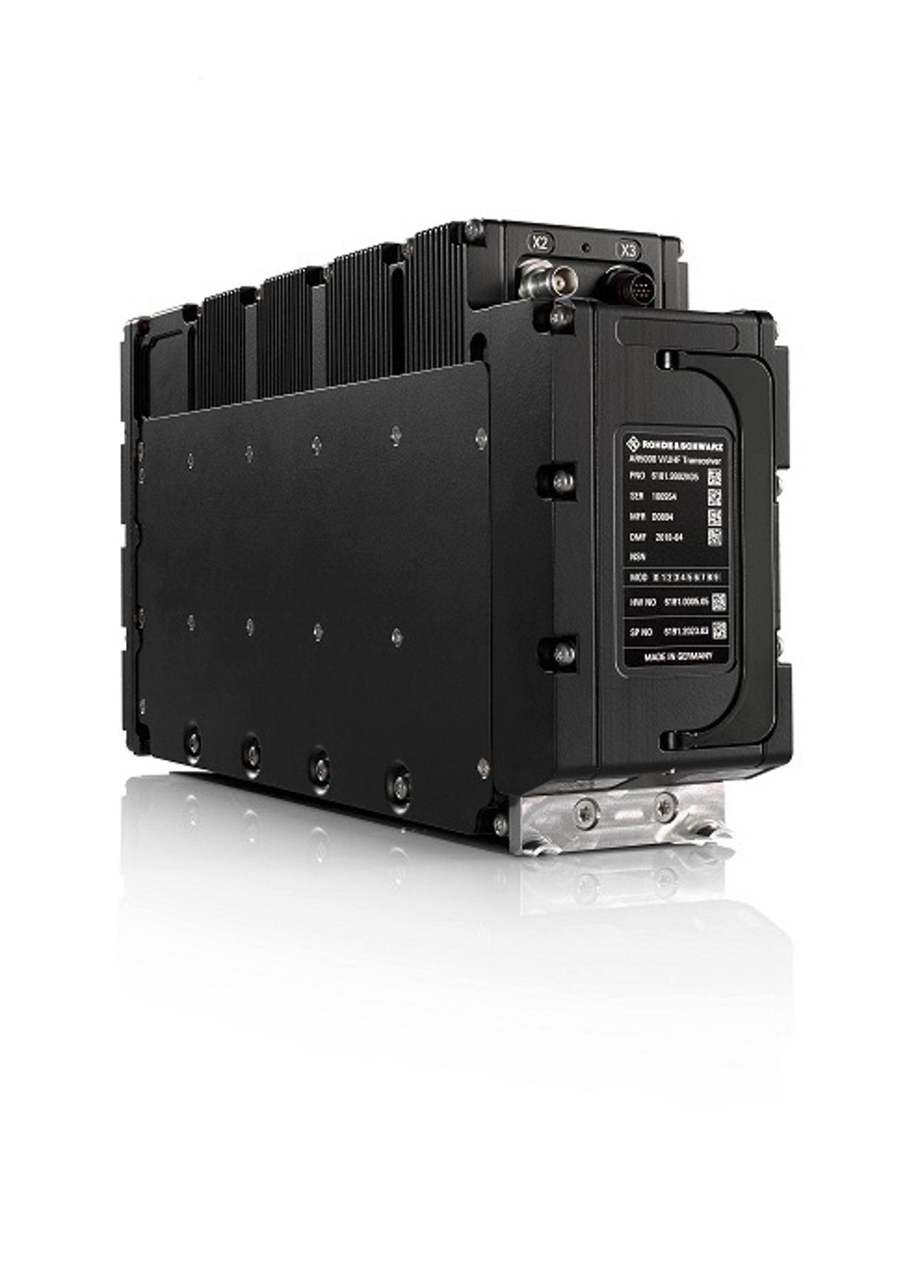 The R&S SDAR software defined airborne radio offers secure, high data rate communications.