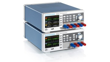 The new power supply series consists of the R&S NGE102B with two channels and the R&S NGE103B with three channels.