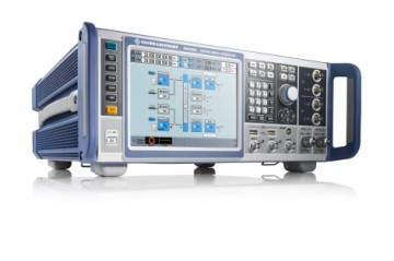 Modem demonstration at Satellite Show 2018 with R&S SMW200A wideband modulator from Rohde & Schwarz