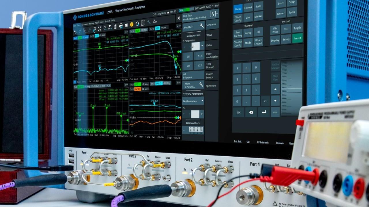Amplifier Measurements with Vector Network Analyzer