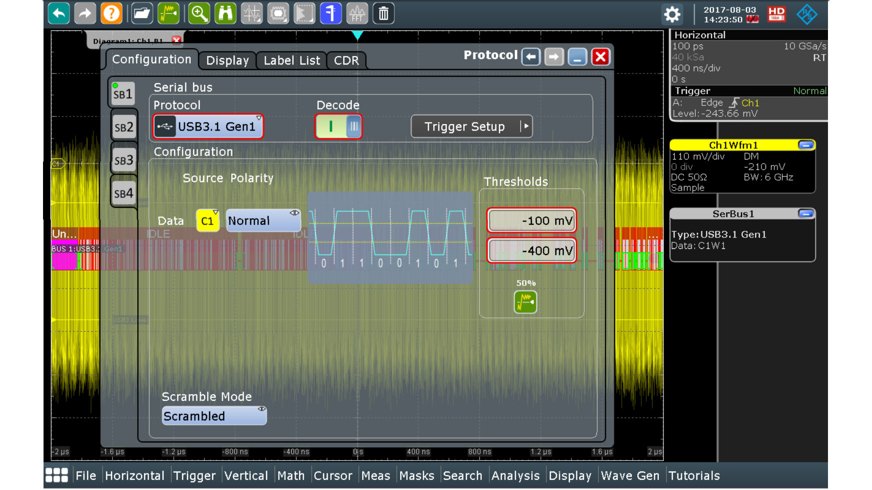Oscilloscope - Serial Triggering and Decoding
