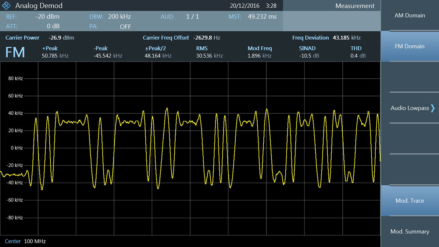 FPC spectrum analyzer