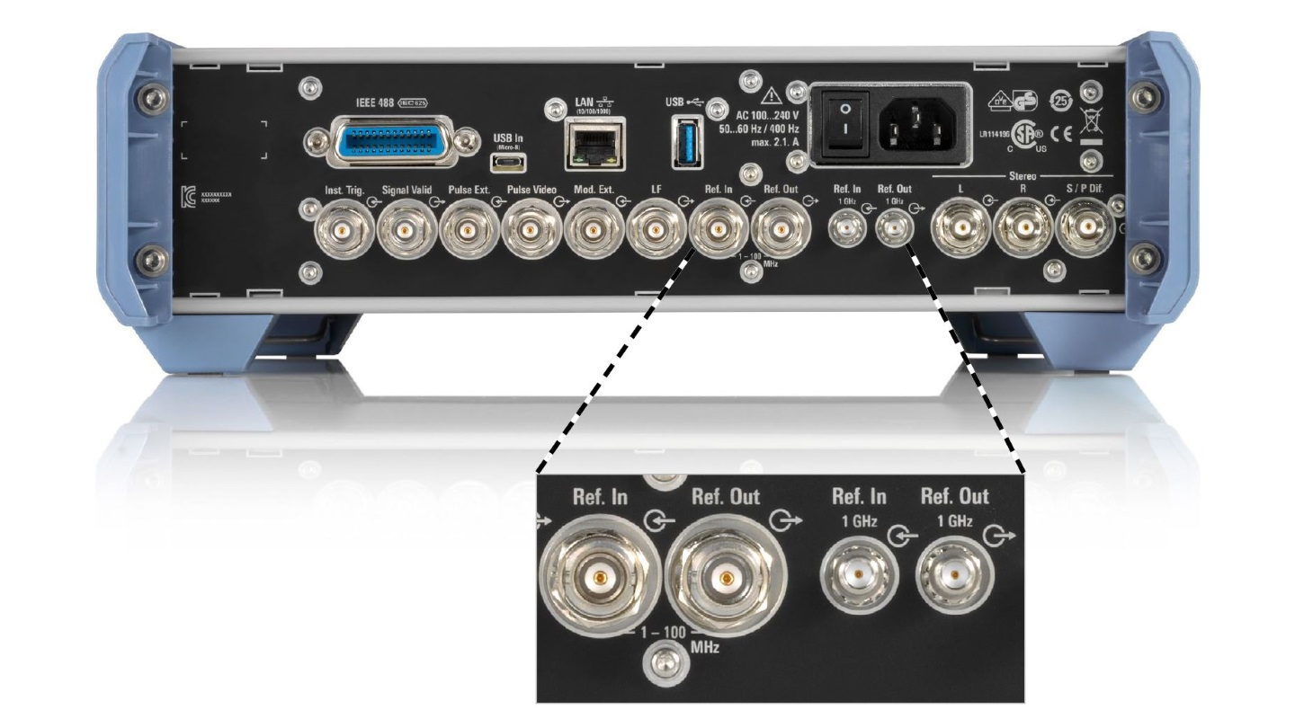 SMB100B variable reference frequency inputs/outputs