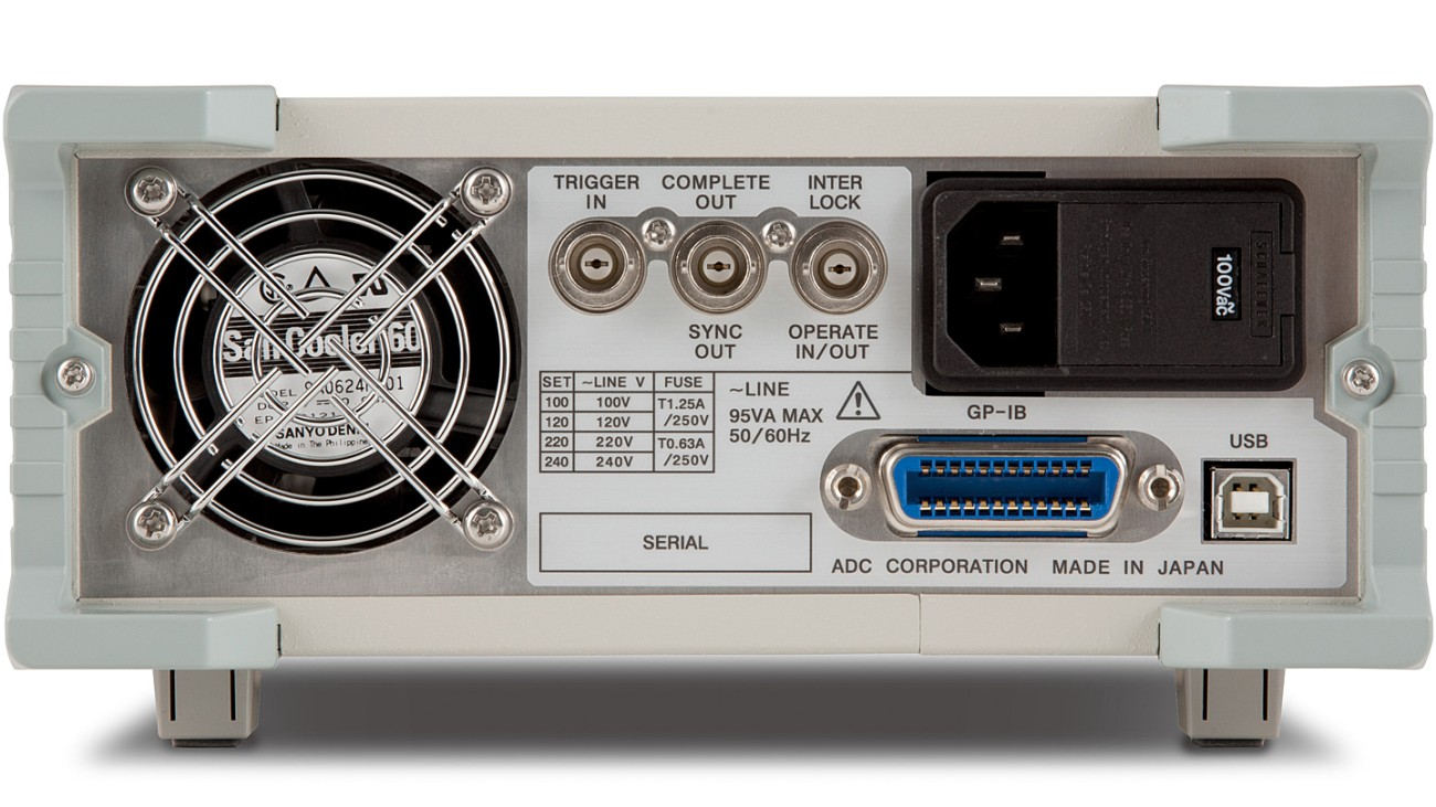 6240B DC Voltage current source/monitor, rear view