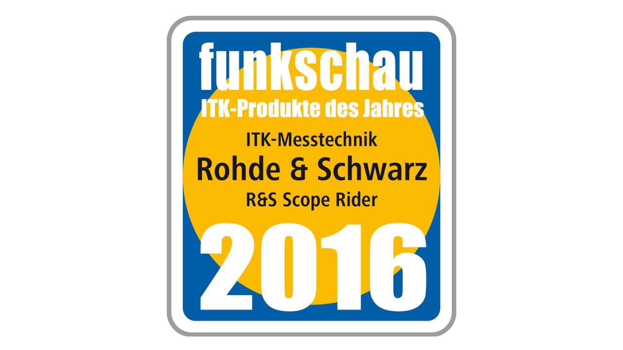 Scope Rider Award Funkschau 2016